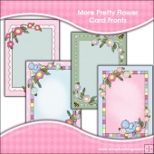 4 More Pretty Flower Card Fronts
