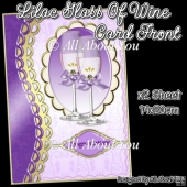 Lilac Glass Of Wine Card Front