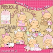Precious Baby Girl ClipArt Graphic Collection