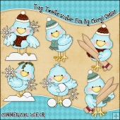 Tiny Tweets Winter Fun ClipArt Graphic Collection