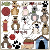 I Love My Pet ClipArt Graphic Collection