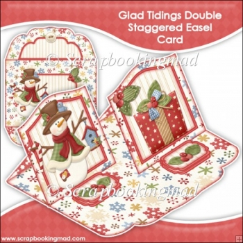 Glad Tidings Double Staggered Easel Card