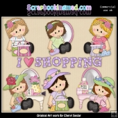 Sitting Sophie Loves To Shop ClipArt Collection
