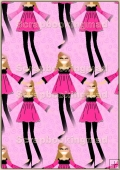 A4 Backing Papers Single - Pink Girls - REF_BP_160