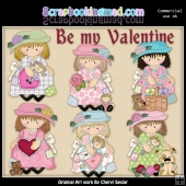 Dress Up Darcy Be My Valentine ClipArt Collection