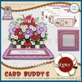 Floral Planter Shaped Easel Card Kit