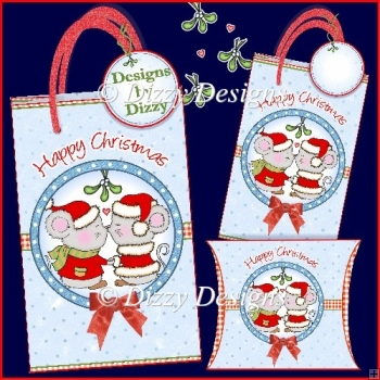 A Sweet Christmas Kiss Gift Bags with freebie Pillow Box