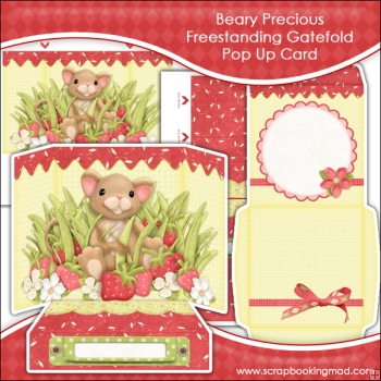 Beary Precious Freestanding Gatefold Pop Up Card
