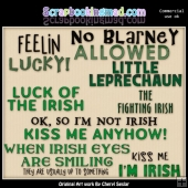 Luck Of The Irish Titles ClipArt Collection