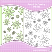 Template Overlay Daisies Sheet