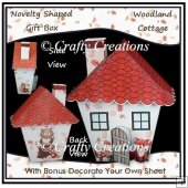 Novelty Shaped Gift Box - Woodland Cottage