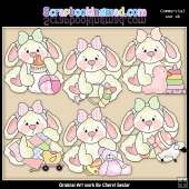Baby Ruby ClipArt Graphic Collection