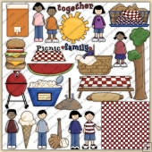 Family Picnic ClipArt Graphic Collection