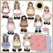 Lil Dollys ClipArt Graphic Collection