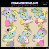 Pretty Birdies Easter ClipArt Collection