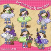 Cloey Loves Purple ClipArt Graphic Collection