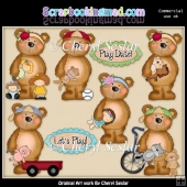 Fuzzy Fozzy Play Date ClipArt Collection
