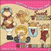Gingerbread Kisses ClipArt Graphic Collection
