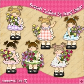 Bouquet Toddlers ClipArt Graphic Collection