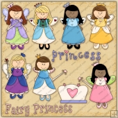 Little Fairy Princess ClipArt Graphic Collection