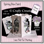 Spring Box Card - Mixed Florals