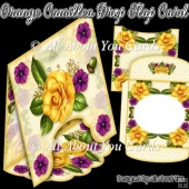 Orange Camellia Drop Flap Card