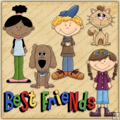 Best Friends ClipArt Graphic Collection