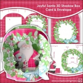 Joyful Santa 3D Shadow Box Card & Envelope