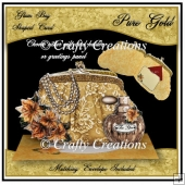 Glam Bag Card - Pure Gold
