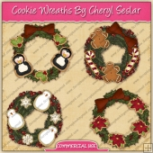 Christmas Cookie Wreaths Graphic Collection - REF - CS