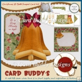 Christmas 3D Bell Shaped Card Kit