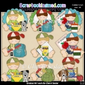 Ruperts Goes To School ClipArt Collection