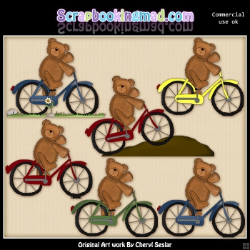 Bicycle Teddies Graphic Collection