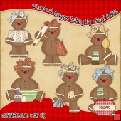 Whimsical Gingers Baking ClipArt Graphic Collection