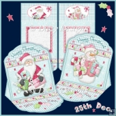 Santa and Snowman Mini Easel Cards