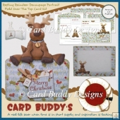 Resting Reindeer Decoupage Portrait Fold Over The Top Card Kit