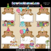 Bulletin Bear Birthday ClipArt Collection