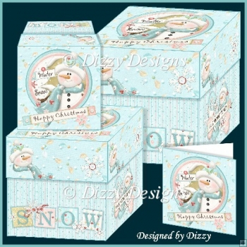 Winter Snow Gift Boxes with Gift Cards
