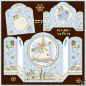 Warm Winter Wishes Four Fold Card