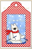 Skiing Polar Bear Gift Tag - REF_T623
