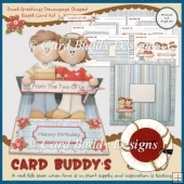 Dual Greetings Decoupage Shaped Easel Card Kit