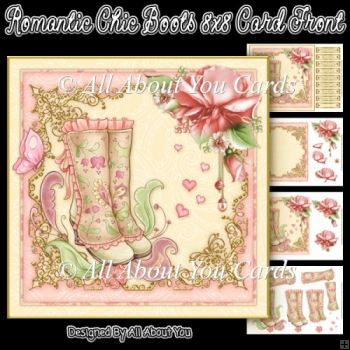 Romantic Chic Boots Card Front