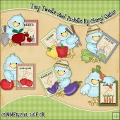 Tiny Tweets Seed Packets ClipArt Graphic Collection