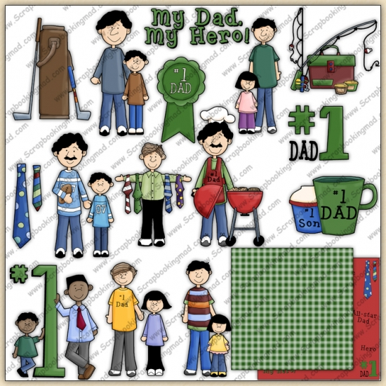 Fathers Day ClipArt Graphic Collection - Click Image to Close