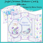 Joyful Christmas Tri Shutter Card & Pillowbox