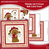 Tibbles Let It Snow Large 8x8 Card Front