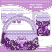 Bright Purple 3D Handbag