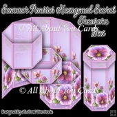 Summer Pansies Hexagonal Secret Treasure Box