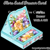Flora Easel Drawer Card