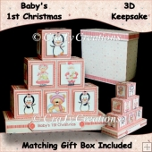 Baby Girl's 1st Christmas Keepsake